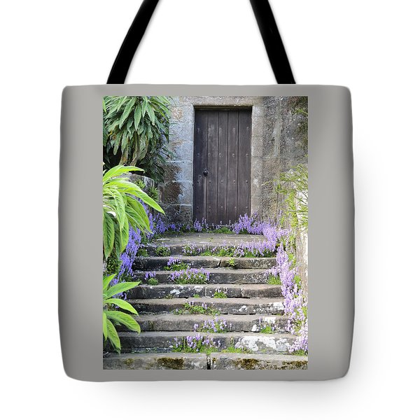 Brodick Castle The Old Door Tote Bag by Sally Ross