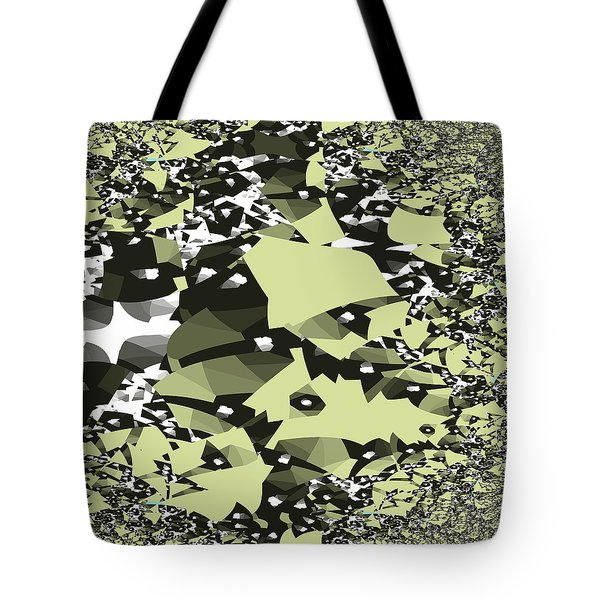 Tote Bag featuring the digital art Broken Abstract by Jessica Wright