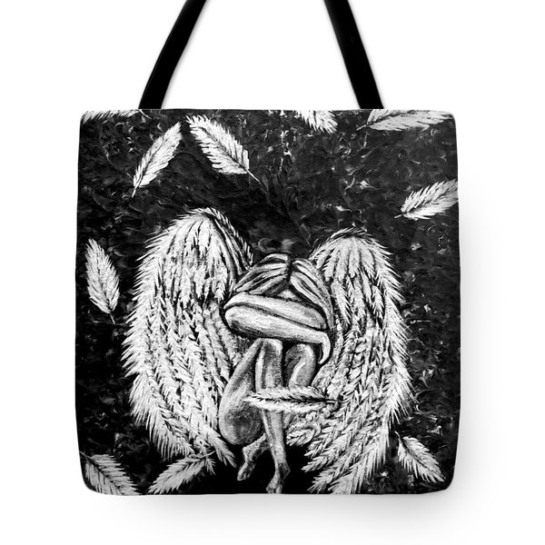 Tote Bag featuring the painting Broken Angel by Teresa Wing