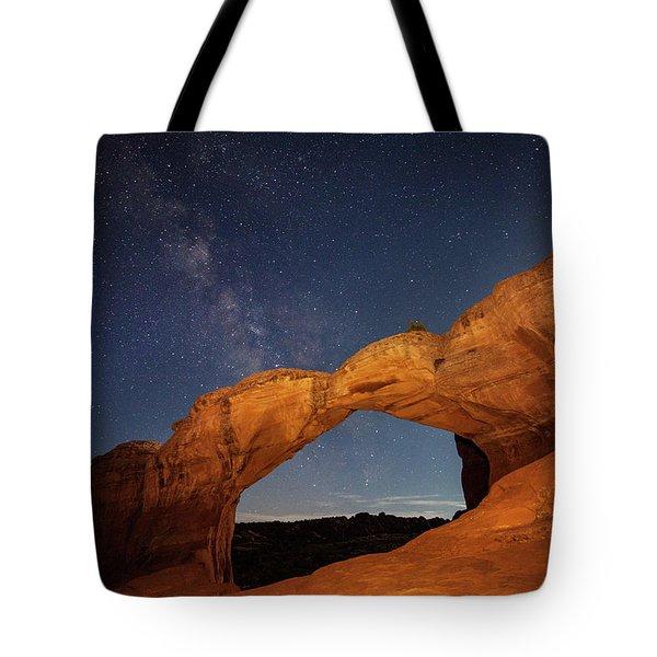 Broken Arch And Milky Way Tote Bag