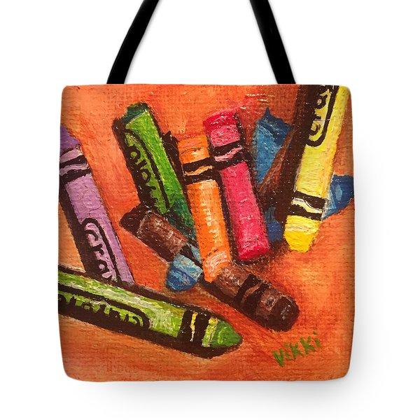 Broken Crayons Tote Bag