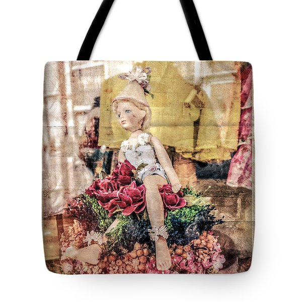 Tote Bag featuring the photograph Broken Doll In The Window by Melinda Ledsome