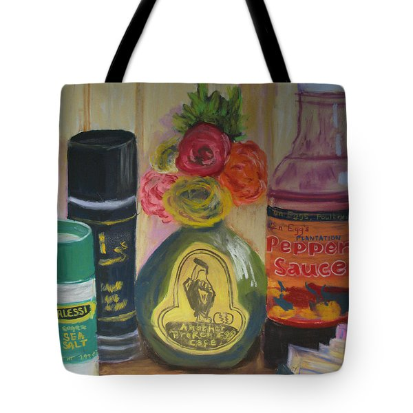 Broken Egg Tableart Tote Bag