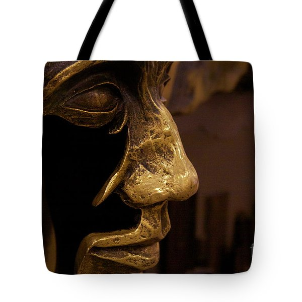 Tote Bag featuring the photograph Broken Face by Xn Tyler