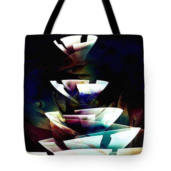 Tote Bag featuring the digital art Broken Glass by Anastasiya Malakhova