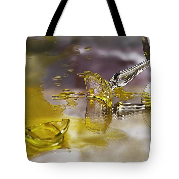 Tote Bag featuring the photograph Broken Glass by Susan Capuano