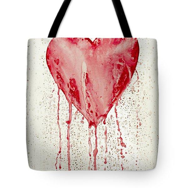 Broken Heart - Bleeding Heart Tote Bag by Michal Boubin
