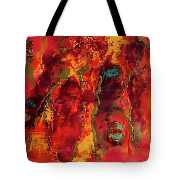 Broken Mask Encaustic Tote Bag