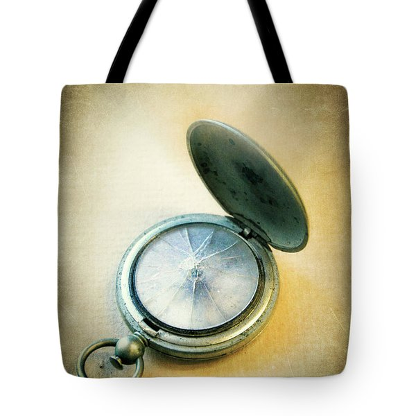 Tote Bag featuring the photograph Broken Pocket Watch by Jill Battaglia