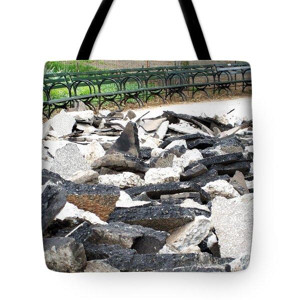 Broken Sidewalk Tote Bag
