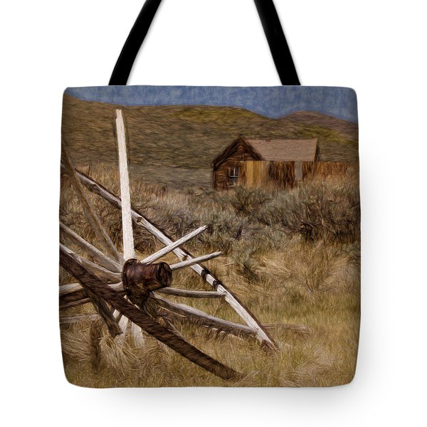 Tote Bag featuring the photograph Broken Spokes by Lana Trussell