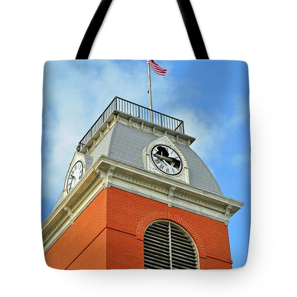 Tote Bag featuring the photograph Broken Time by Jost Houk