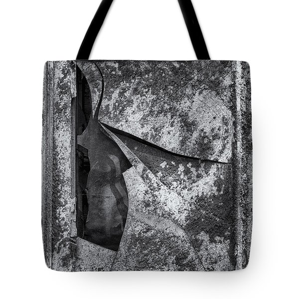 Tote Bag featuring the photograph Broken Window by Tom Singleton