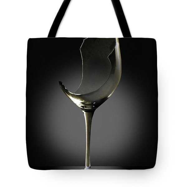 Broken Wine Glass Tote Bag by Yuri Lev