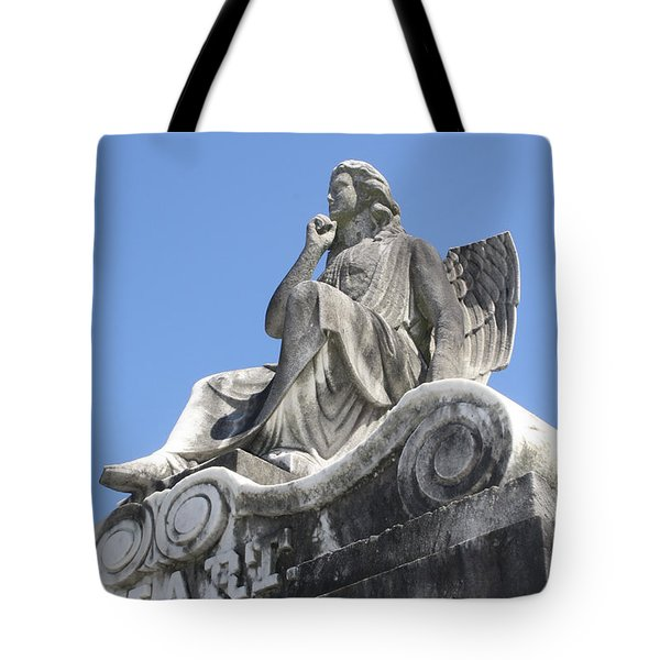 Tote Bag featuring the painting Broken Wing by Tbone Oliver