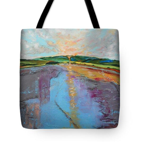 Broken Words Tote Bag by Sue Furrow