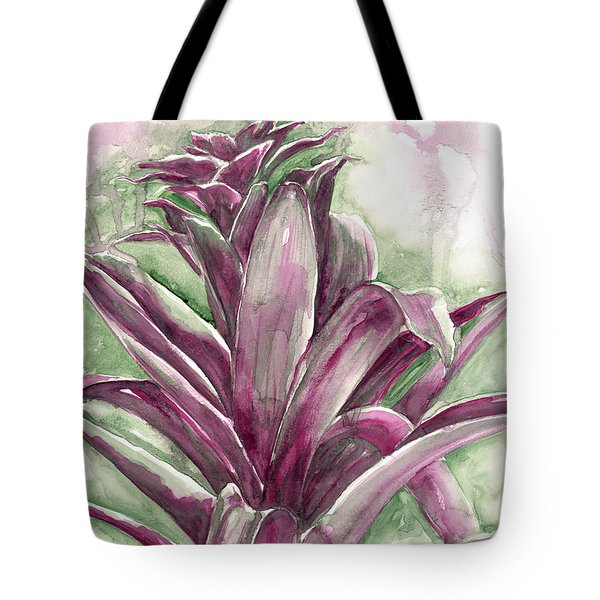 Tote Bag featuring the painting Bromeliad by Ashley Kujan