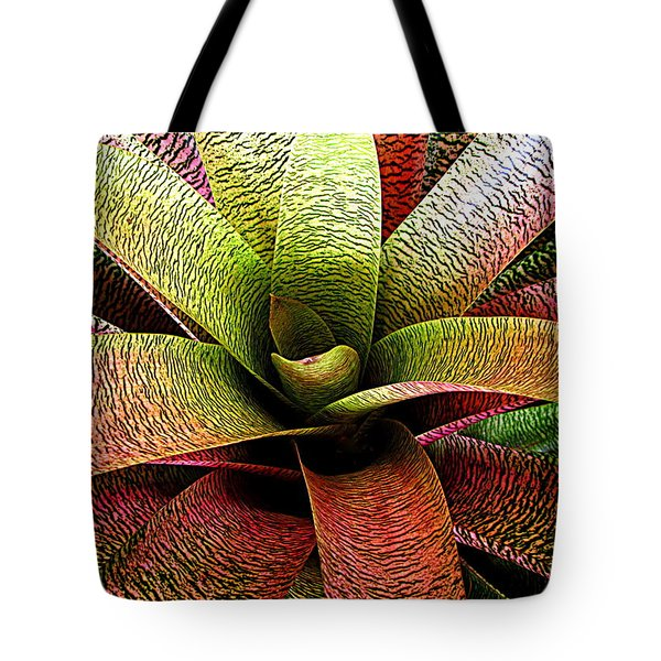 Tote Bag featuring the photograph Bromeliad by Ranjini Kandasamy