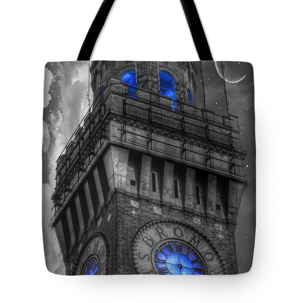 Bromo Seltzer Tower Baltimore - Blue  Tote Bag