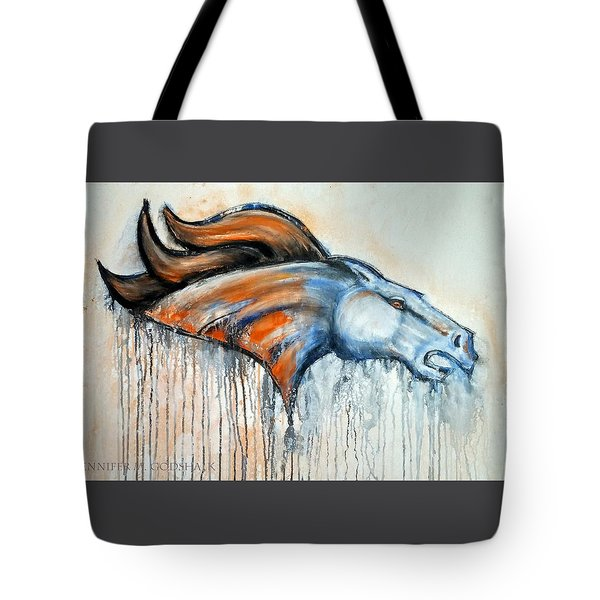Bronco Tote Bag by Jennifer Godshalk