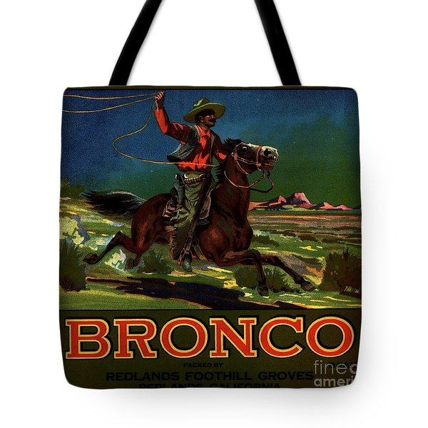 Bronco Redlands California Tote Bag by Peter Gumaer Ogden