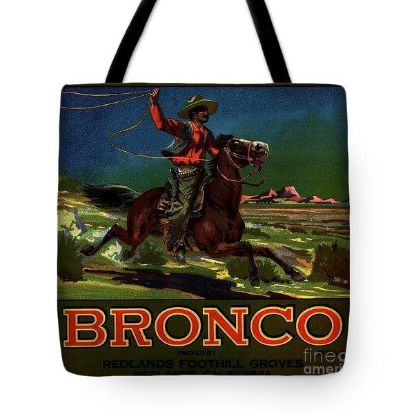 Tote Bag featuring the digital art Bronco Redlands California by Peter Gumaer Ogden