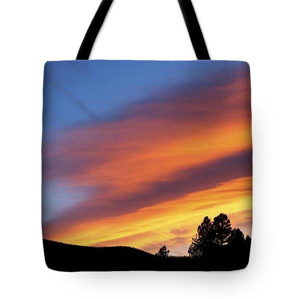 Broncos Sunset Tote Bag