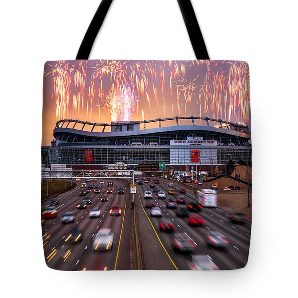 Broncos Win Afc Championship Game 2016 Tote Bag by Darren White