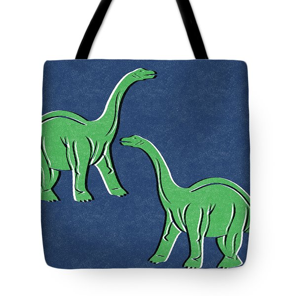 Brontosaurus Tote Bag by Linda Woods