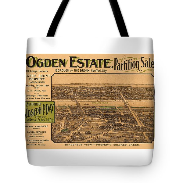 1909 Bronx New York Realtor Flyer Tote Bag