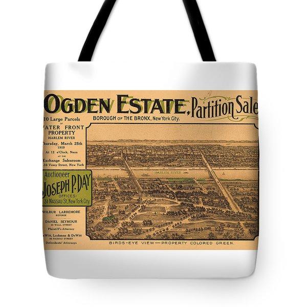 1909 Bronx New York Realtor Flyer Tote Bag