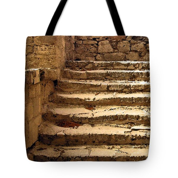 Bronze Age Stairs Tote Bag
