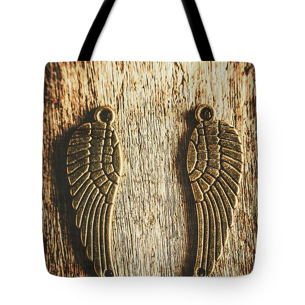 Bronze Angel Wings Tote Bag