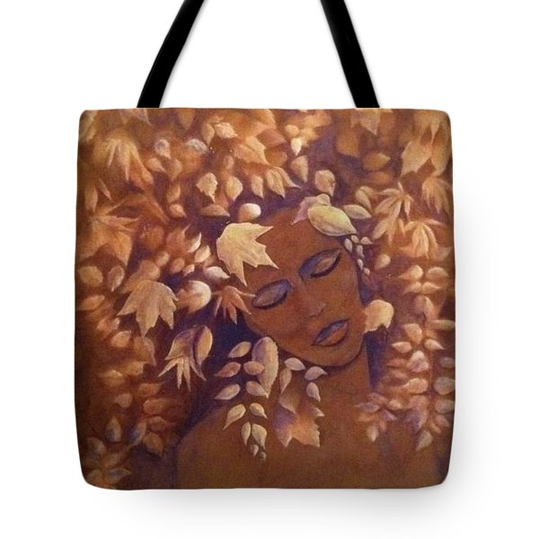 Bronze Beauty Tote Bag by T Fry-Green