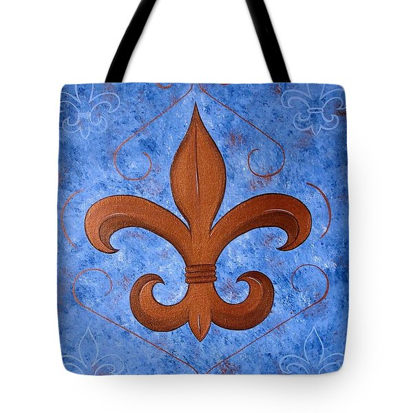 Bronze Fleur De Lis Tote Bag