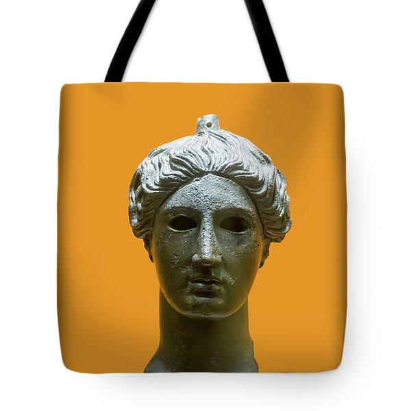 Bronze Head Of Nike  Tote Bag