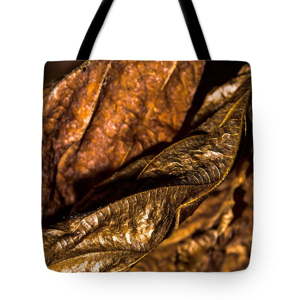Bronze Leaves Tote Bag