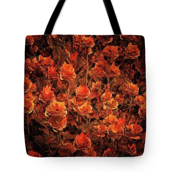 Bronze Roses Tote Bag