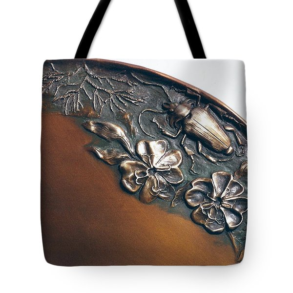 Bronze Tray Detail With Beetle Tote Bag by Dawn Senior-Trask