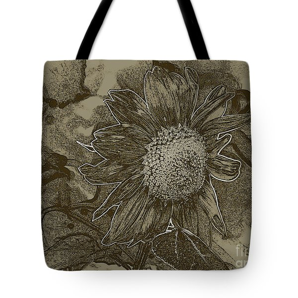 Bronzed Out Sunflower Tote Bag