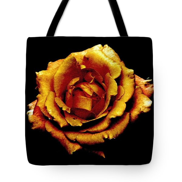Bronzed Rose Tote Bag by Angela Davies