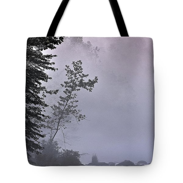 Tote Bag featuring the photograph Brooding River by Tom Cameron