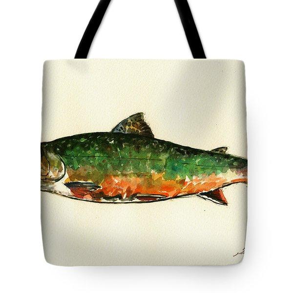 Brook Trout Tote Bag