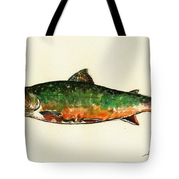 Brook Trout Tote Bag by Juan  Bosco