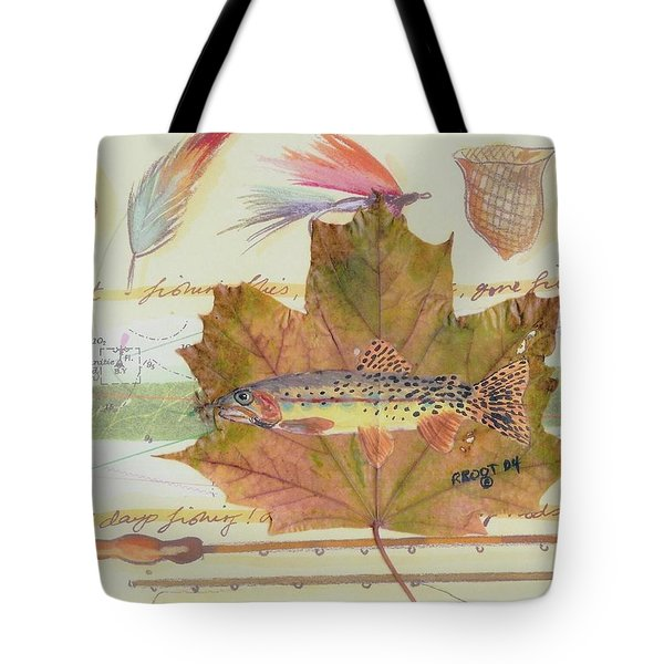 Brook Trout On Fly #2 Tote Bag