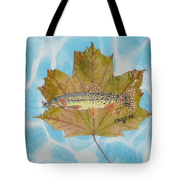 Brook Trout On Fly Tote Bag