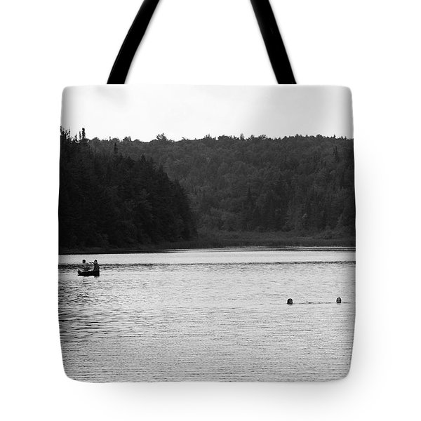 Tote Bag featuring the photograph Brookfield, Vt - Swimming Hole 2006 Bw by Frank Romeo