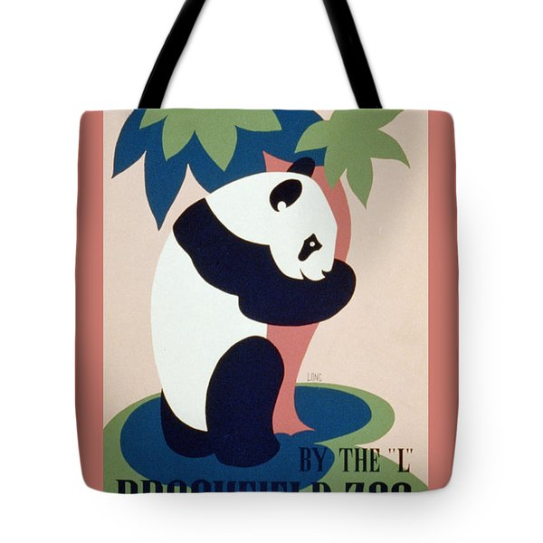 Brookfield Zoo Panda Tote Bag by Unknown