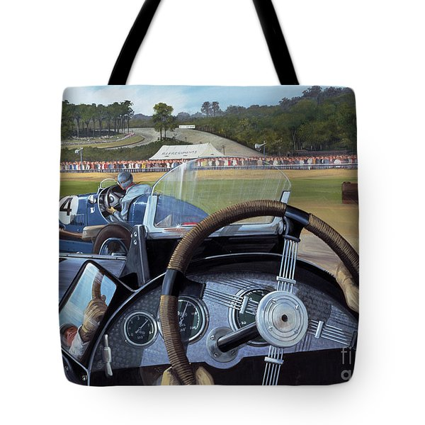 Brooklands From The Hot Seat  Tote Bag by Richard Wheatland