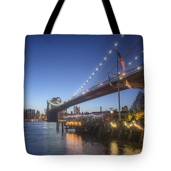 Tote Bag featuring the photograph Brooklyn Brdige New York  by Juergen Held